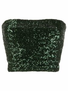 Andamane sequinned strapless top - Green