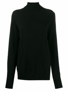 Ma'ry'ya longline knitted jumper - Black