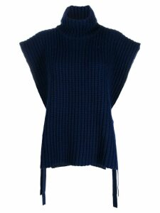 See By Chloé sleeveless turtleneck knitted top - Blue
