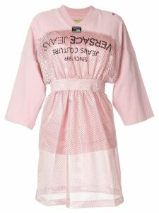 Versace Jeans sporty mesh-panel dress - Pink