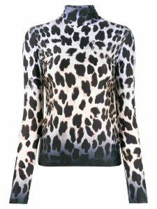 R13 leopard print sweatshirt - Black