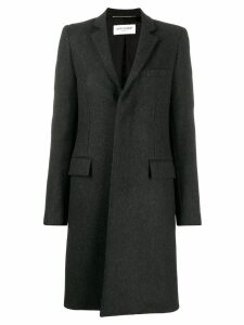 Saint Laurent single breasted coat - Grey