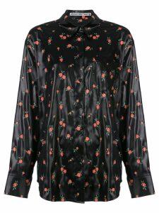Alexander Wang floral print shirt - Black