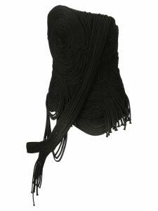Vera Wang corded bustier top - Black