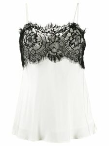 Gold Hawk lace detail camisole top - White