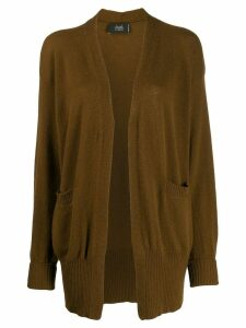 Maison Flaneur open front cardigan - Brown