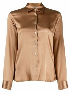 Blanca Vita silk fitted shirt - Brown