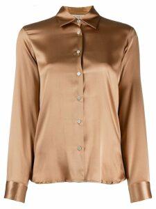 Blanca Vita silk fitted shirt - Brown
