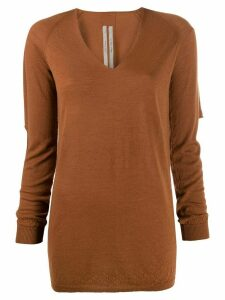 Rick Owens longline knit top - Brown