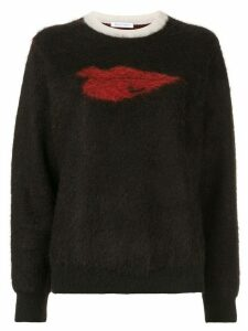 Bella Freud Hot Lips textured knit jumper - Black
