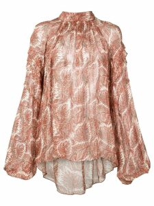 Adam Lippes all-over print blouse - NEUTRALS