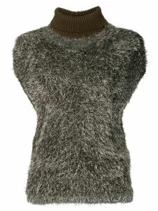 Fabiana Filippi textured turtleneck knitted top - Gold