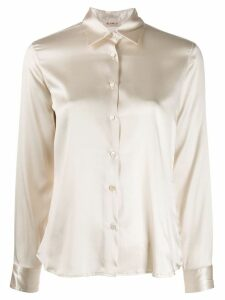 Blanca Vita silk fitted shirt - NEUTRALS