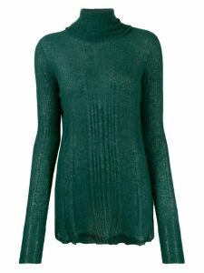 Roberto Collina ribbed turtleneck jumper - Green