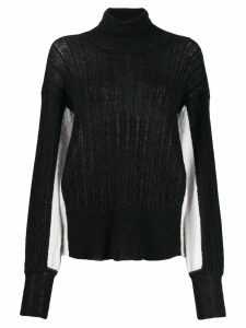 Maison Flaneur colour block jumper - Black
