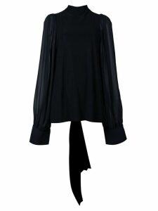 Vera Wang sheer back blouse - BLACK