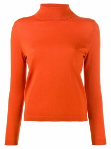 Luisa Cerano roll neck sweater - ORANGE