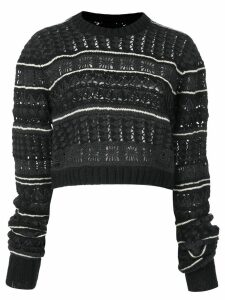 Vera Wang fair isle jumper - Black