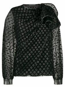 Alberta Ferretti eyelet detail blouse - Black
