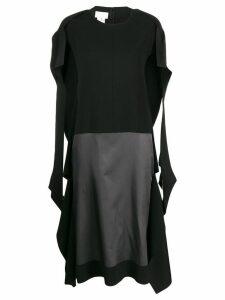 Maison Margiela contrast panel dress - Black