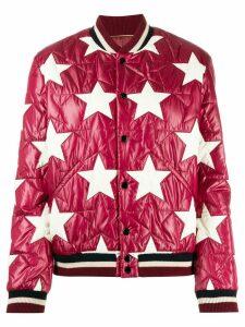 Saint Laurent star bomber jacket - Red