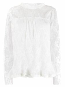 See By Chloé high-neck floral lace blouse - White