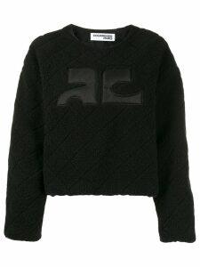 Courrèges textured boxy-fit jumper - Black