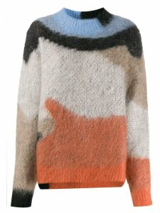 Ambush intarsia-knit jumper - NEUTRALS