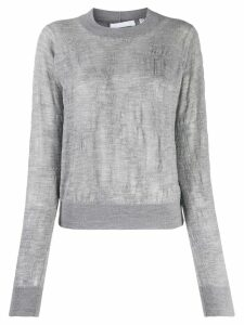 Helmut Lang lightweight-knit jumper - Grey