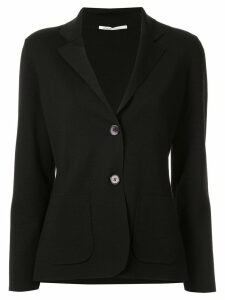 Agnona slim-fit jersey blazer - Black