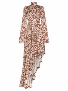 Solace London Marlee patterned asymmetric maxi dress - Multicolour