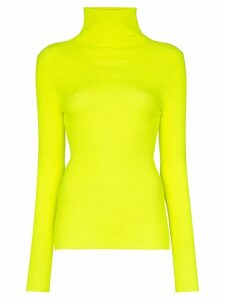 MSGM ribbed turtleneck sweater - Yellow