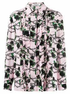 Valentino ruffled printed shirt - PINK
