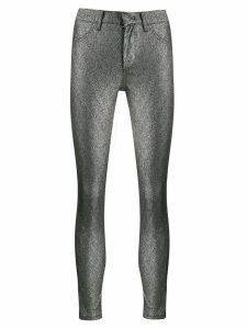Dondup metallic stitched leggings - SILVER