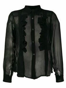 Comme Des Garçons Comme Des Garçons frill trimmed shirt - Black