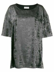Faith Connexion velvet oversized T-shirt - SILVER