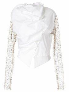 Aganovich draped asymmetric shirt - White