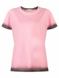 Nº21 Tie-dye trim logo T-shirt - PINK