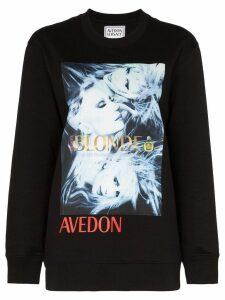 Versace Donatella print sweatshirt - Black