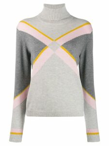 Escada Sport intarsia knit jumper - Grey