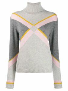 Escada Sport intarsia knit jumper - Grey