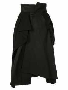 Aganovich jersey-panelled asymmetric skirt - Black
