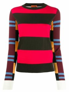 colville striped colour block sweater - Black