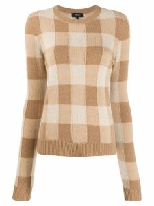 Theory checked cashmere jumper - NEUTRALS