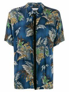 Night Market beaded Hawaiian shirt - Blue