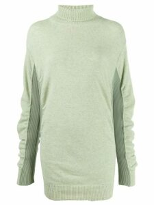 Mm6 Maison Margiela ruched knitted jumper - Green