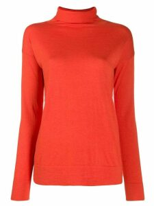 Snobby Sheep turtleneck slim-fit jumper - ORANGE