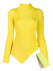 Off-White asymmetric knitted top - Yellow
