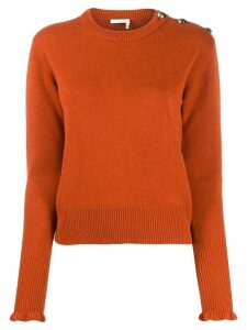 Chloé cashmere buttoned jumper - ORANGE