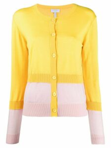 Escada Sport layered colour-block cardigan - Yellow
